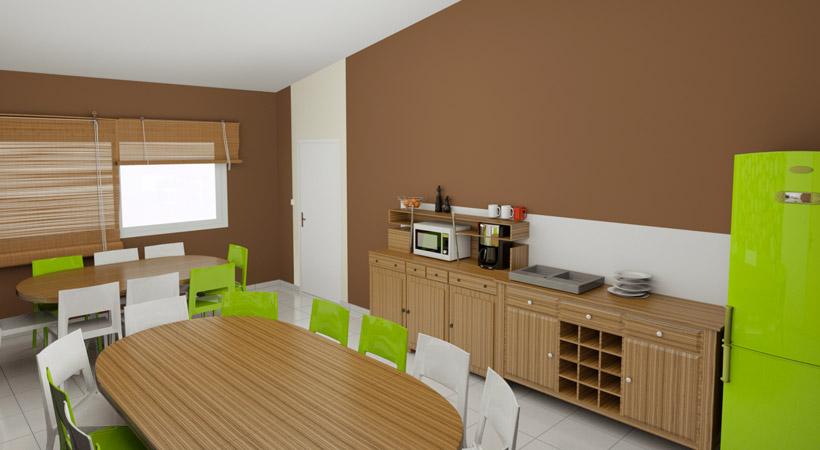 am nagement de restaurant collectif cantine convivio. Black Bedroom Furniture Sets. Home Design Ideas