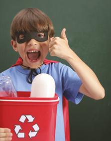 recyclage-geste-enfant-trier-recycler-dechets