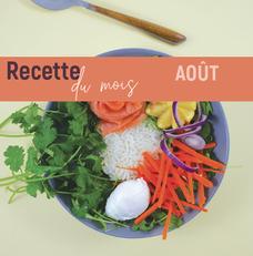 Recette août - Poke bowl saumon